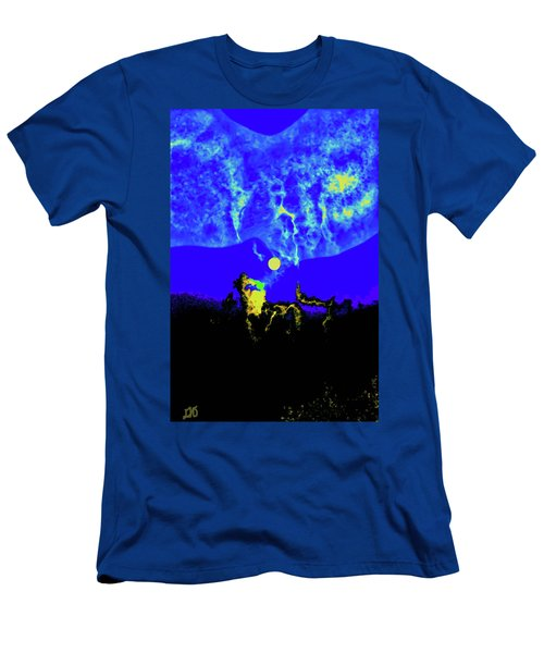 Under A Full Moon Men's T-Shirt (Athletic Fit)