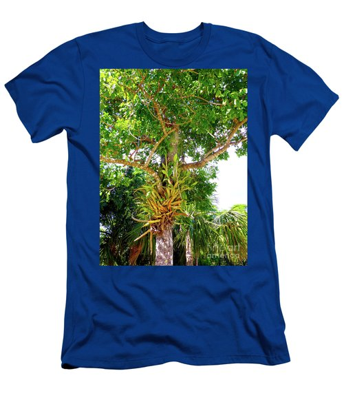 Men's T-Shirt (Athletic Fit) featuring the photograph Under A Tropical Tree M by Francesca Mackenney