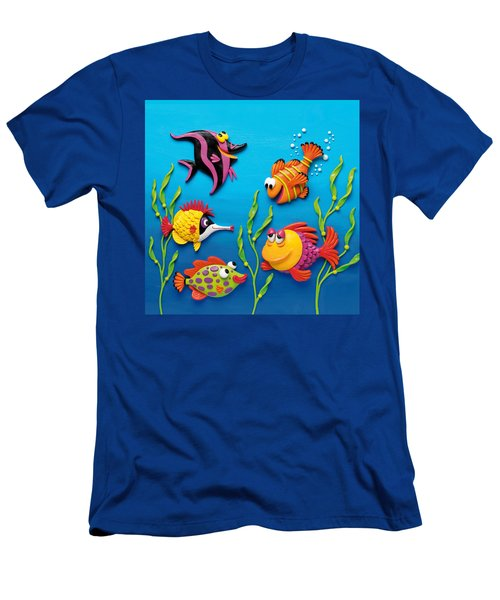 Under The Sea Square Men's T-Shirt (Athletic Fit)