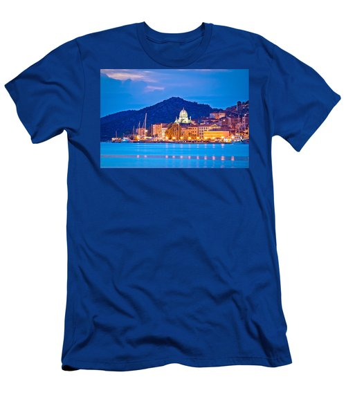 Unesco Town Of Sibenik Blue Hour View Men's T-Shirt (Athletic Fit)