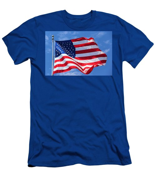 United States Flag Men's T-Shirt (Slim Fit) by Elizabeth Budd
