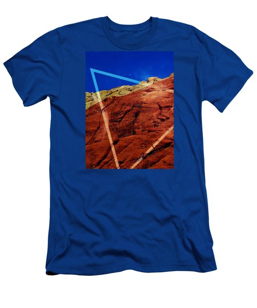 Men's T-Shirt (Athletic Fit) featuring the mixed media Uplifting by Michelle Dallocchio