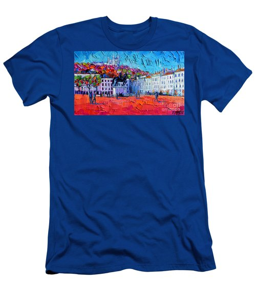 Urban Impression - Bellecour Square In Lyon France Men's T-Shirt (Athletic Fit)