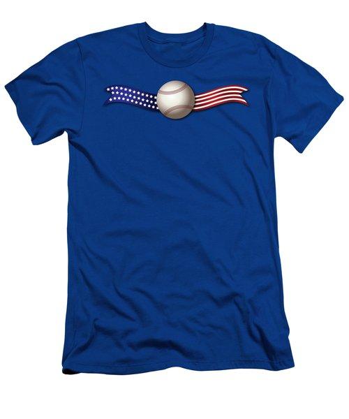 Usa Baseball Men's T-Shirt (Athletic Fit)