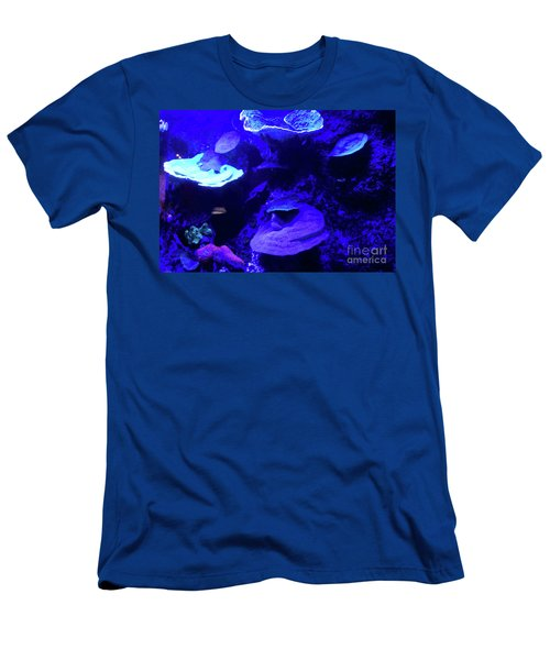 Men's T-Shirt (Athletic Fit) featuring the photograph Uw Neon Coral by Francesca Mackenney