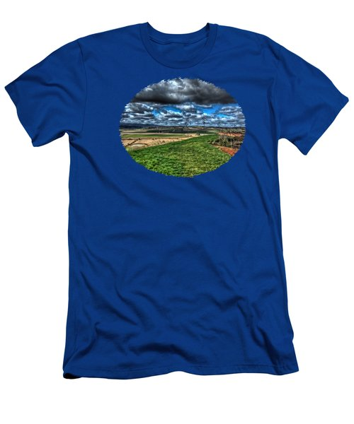 View From The Van Duzer Vineyards  Men's T-Shirt (Athletic Fit)