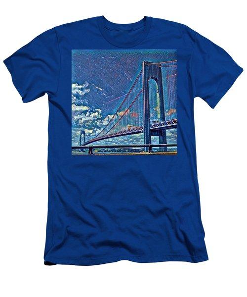 Verrazano Bridge Men's T-Shirt (Slim Fit) by Rita Tortorelli