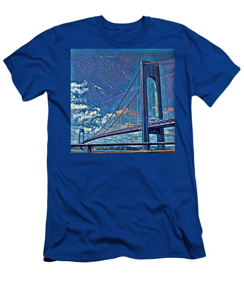 Verrazano Bridge Men's T-Shirt (Athletic Fit)