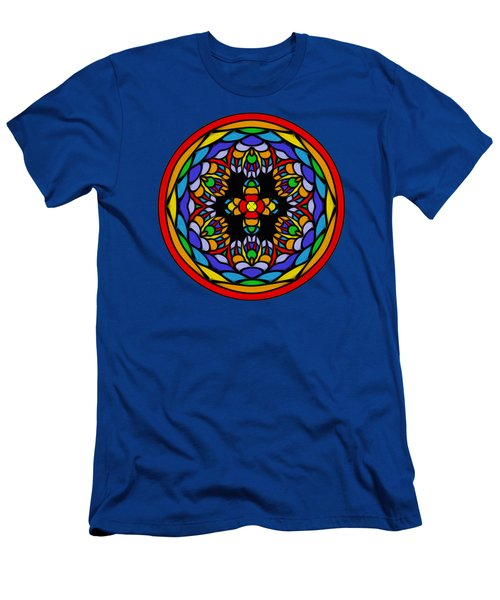 Vibrant Pattern Orb By Kaye Menner Men's T-Shirt (Athletic Fit)