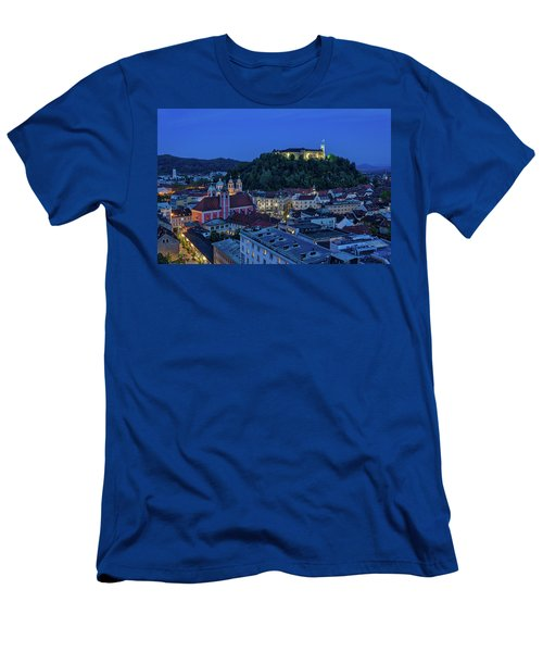 Men's T-Shirt (Athletic Fit) featuring the photograph View From The Skyscraper #2 - Slovenia by Stuart Litoff