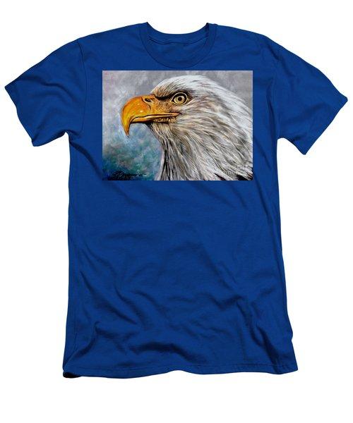 Men's T-Shirt (Slim Fit) featuring the painting Vigilant Eagle by Patricia L Davidson