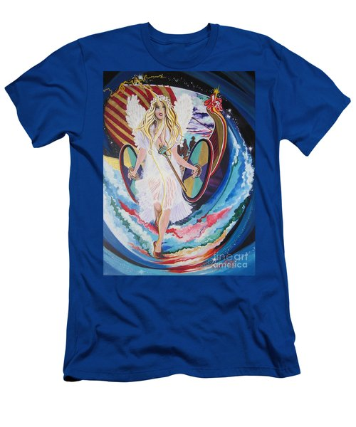 Blaa Kattproduksjoner   Welcomes Viking Goddess  To  Egypt Men's T-Shirt (Athletic Fit)