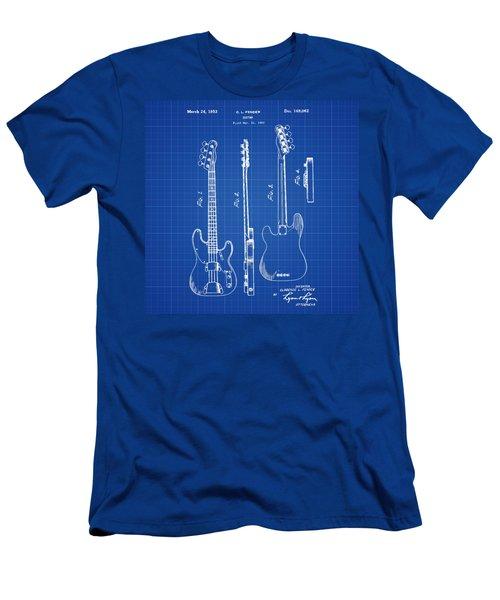 Vintage 1953 Fender Base Blueprint Patent Men's T-Shirt (Athletic Fit)