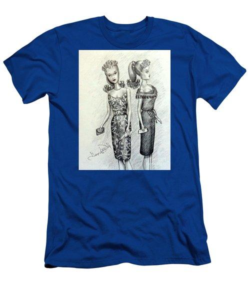 Vintage Ponytail Barbie Men's T-Shirt (Athletic Fit)