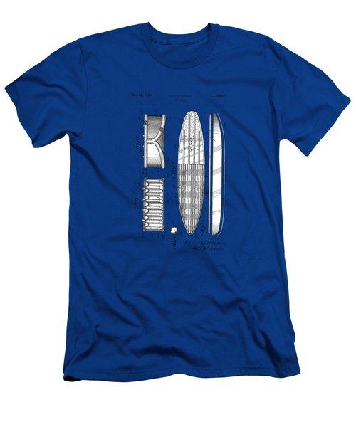 Vintage Surf Board Patent Blue Print 1950 Men's T-Shirt (Athletic Fit)