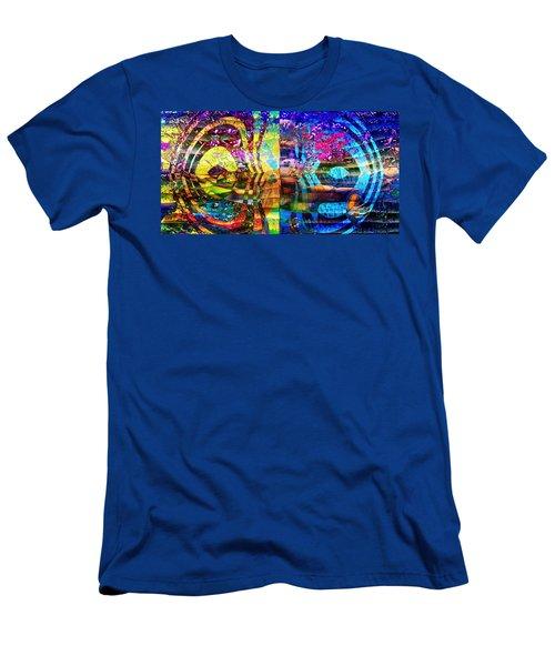 Violet Dream Spiral Men's T-Shirt (Athletic Fit)