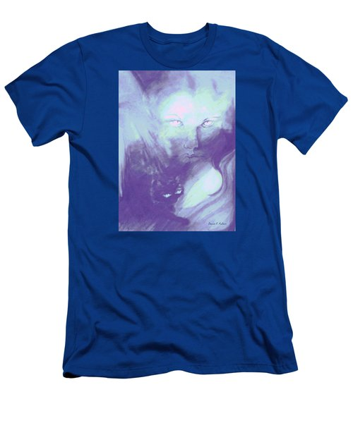 Men's T-Shirt (Slim Fit) featuring the painting Visions Of The Night by Denise Fulmer