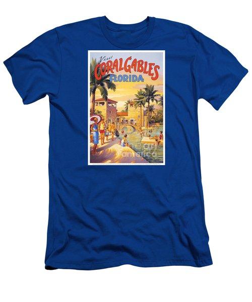 Visit Coral Gables-florida Men's T-Shirt (Slim Fit) by Nostalgic Prints