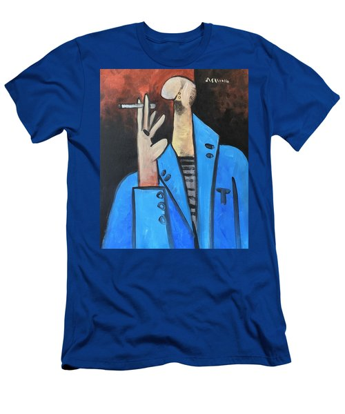 Vitae The Smoker In A Blue Blazer  Men's T-Shirt (Athletic Fit)
