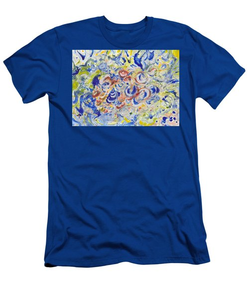 Volcanic Sea Acrylic/water Men's T-Shirt (Athletic Fit)