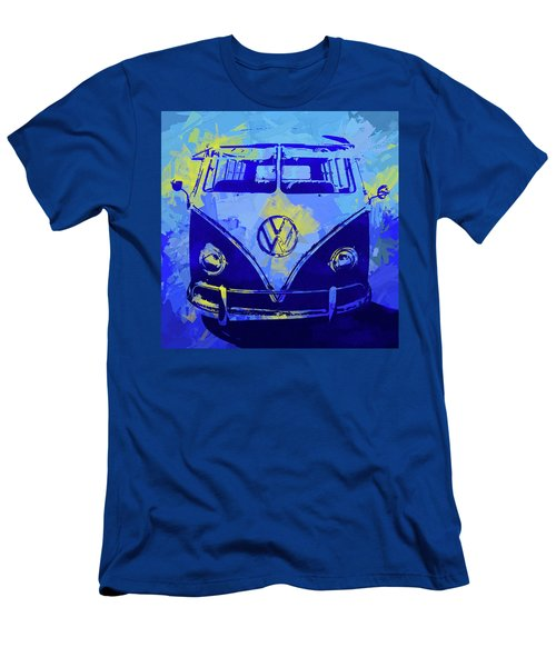 Volkswagen Bus Pop Blue Men's T-Shirt (Athletic Fit)