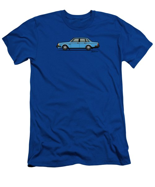 Volvo Brick 244 240 Sedan Brick Blue Men's T-Shirt (Athletic Fit)