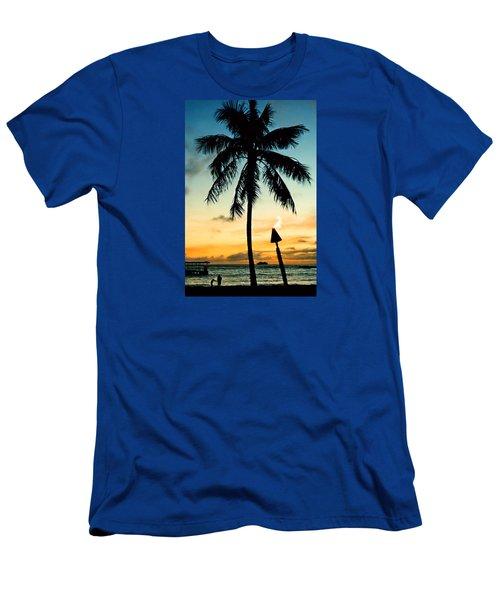 Waikiki Sunset Men's T-Shirt (Athletic Fit)