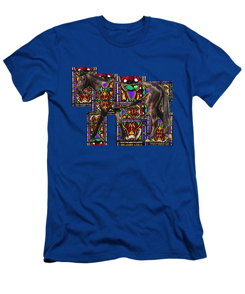 Walking Horse Men's T-Shirt (Slim Fit) by Tom Conway