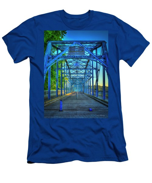 Walking Tall Walnut Street Pedestrian Bridge Art Chattanooga Tennessee Men's T-Shirt (Athletic Fit)