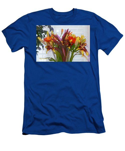 Warm Colored Flowers Men's T-Shirt (Athletic Fit)