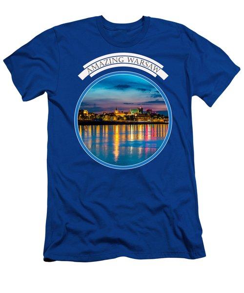 Warsaw Souvenir T-shirt Design 1 Blue Men's T-Shirt (Athletic Fit)