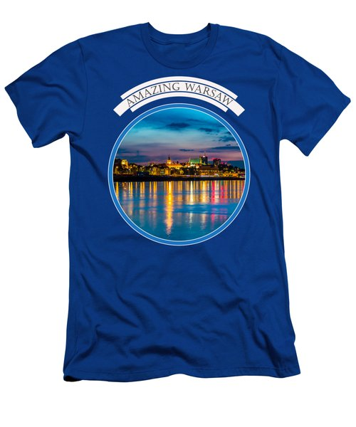 Warsaw Souvenir T-shirt Design 1 Blue Men's T-Shirt (Athletic Fit)