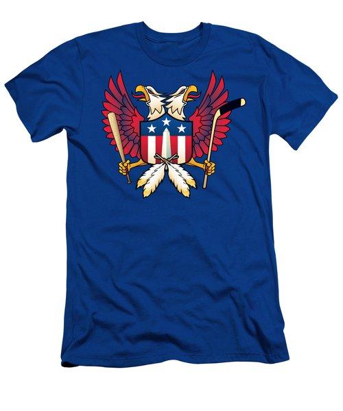 Washington Dc-double Eagle Sports Fan Crest Men's T-Shirt (Athletic Fit)