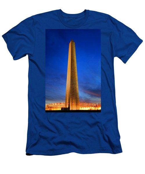 Washington Monument At Dusk Men's T-Shirt (Athletic Fit)