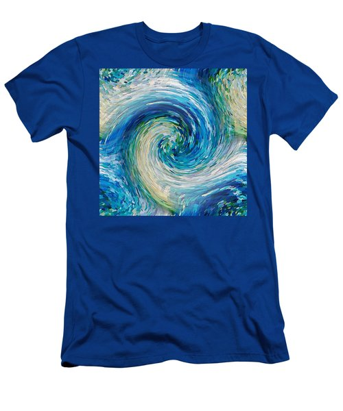 Wave To Van Gogh II Men's T-Shirt (Athletic Fit)