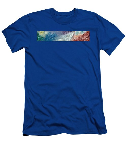 Waves Of Color Men's T-Shirt (Slim Fit) by Gallery Messina
