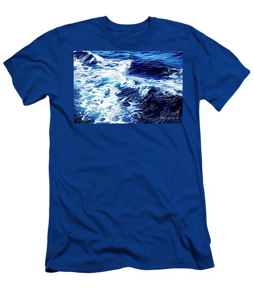 Waves Men's T-Shirt (Slim Fit) by Zedi