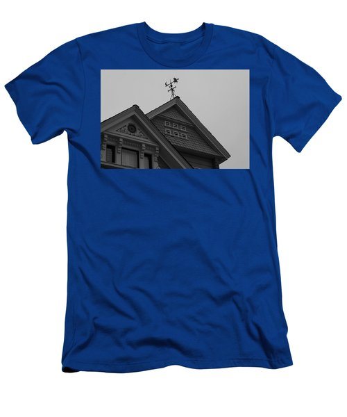 Weathervane In Black And White Men's T-Shirt (Athletic Fit)