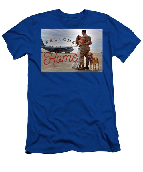 Men's T-Shirt (Athletic Fit) featuring the digital art Welcome Home by Kathy Tarochione