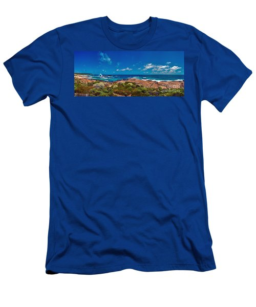 Men's T-Shirt (Slim Fit) featuring the photograph Western Australia Beach Panorama by David Zanzinger