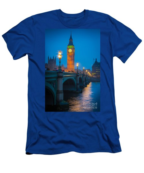Westminster Bridge At Night Men's T-Shirt (Athletic Fit)