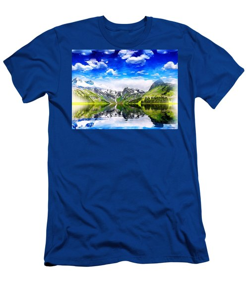 What A Beautiful Day Men's T-Shirt (Slim Fit) by Gabriella Weninger - David