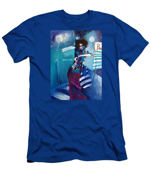 Men's T-Shirt (Slim Fit) featuring the painting What Time Is It by Maya Manolova