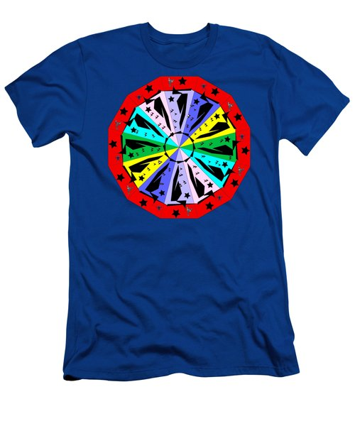 Wheel Of Color Men's T-Shirt (Athletic Fit)