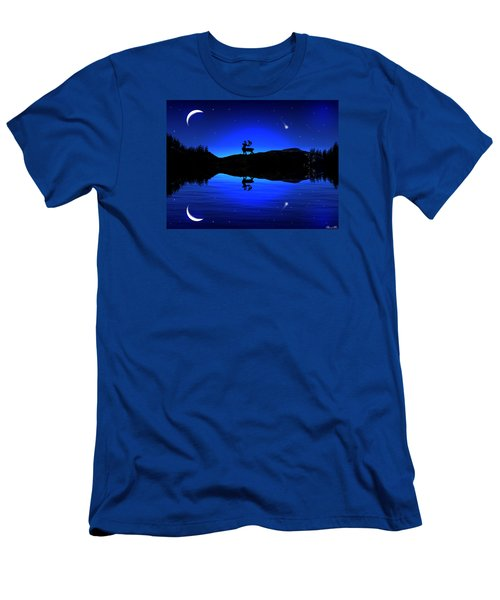 Men's T-Shirt (Slim Fit) featuring the digital art Wherever I May Roam by Bernd Hau