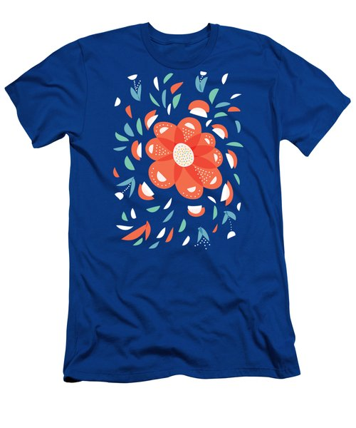 Whimsical Red Flower Men's T-Shirt (Athletic Fit)