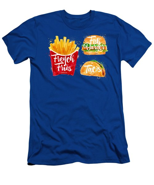 White French Fries Men's T-Shirt (Slim Fit) by Aloke Creative Store
