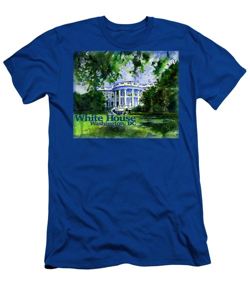 White House Dc Shirt Men's T-Shirt (Athletic Fit)