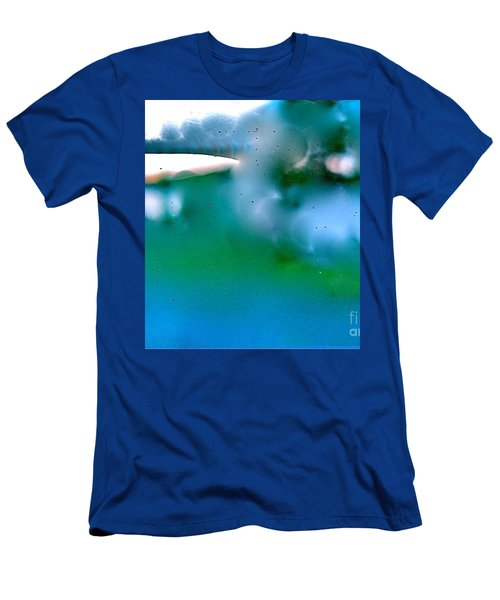 Men's T-Shirt (Slim Fit) featuring the digital art White Ice by Patricia Schneider Mitchell