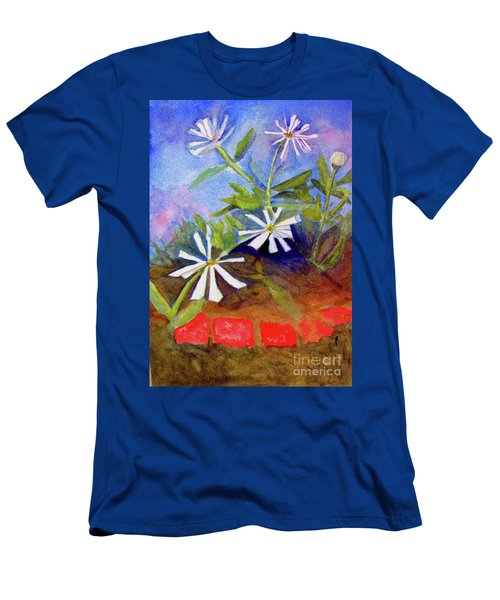 White Zinnias Men's T-Shirt (Athletic Fit)